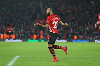 Football - 2018 / 2019 Premier League - Southampton vs. Everton<br /> <br /> Southampton's Nathan Redmond sheepishly celebrates his goal after fluking the ball past Jordan Pickford of Everton at St Mary's Stadium Southampton<br /> <br /> COLORSPORT/SHAUN BOGGUST