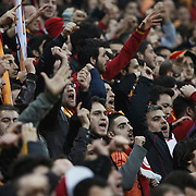 Galatasaray's supporters during their Friendly soccer match Galatasaray between Ajax at the Turk Telekom Arena at Arslantepe in Istanbul Turkey on Saturday 15 January 2011. Turkish soccer team Galatasaray new stadium Turk Telekom Arena opening ceremony. Photo by TURKPIX