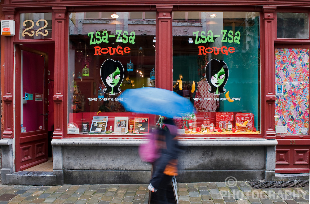 The Zsa-Zsa Rouge gift shop in Ghent, Belgium, on Friday, Sept. 12, 2008. (Photo © Jock Fistick)