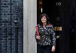 © Licensed to London News Pictures. 06/11/2018. London, UK. Minister of State at Department for Business, Energy and Industrial Strategy Claire Perry leaves 10 Downing Street after the Cabinet meeting. Photo credit: Rob Pinney/LNP
