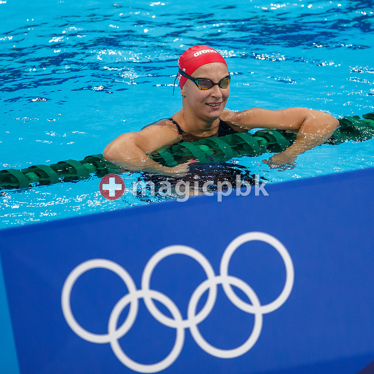 Maria UGOLKOVA of Switzerland is pictured during a training session prior to the start of the Swimming competition held at the Aquatics Center during the Tokyo 2020 Olympic Games in Tokyo, Japan, Thursday, July 22, 2021. (Photo by Patrick B. Kraemer / MAGICPBK)