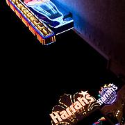 flurescent lights on the strip Las Vegas
