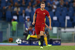 September 12, 2017 - Rome, Italy - Edin Dzeko of Roma  during the UEFA Champions League Group C football match between AS Roma and Atletico Madrid on September 12, 2017 at the Olympic stadium in Rome. (Credit Image: © Matteo Ciambelli/NurPhoto via ZUMA Press)
