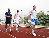 Photo: Chris Ratcliffe.<br />England Training Session. FIFA World Cup 2006. 28/06/2006.<br />Wayne Rooney arrives for training.