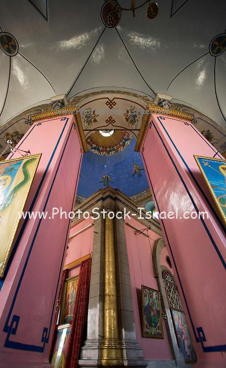 Interior of the Ethiopian church, Jerusalem, Israel built between 1873 and 1911