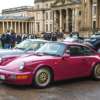 Porsche 964 (Rubistone red) at Rennsport Collective at Stowe House, Buckinghamshire, UK, on 1 November 2020