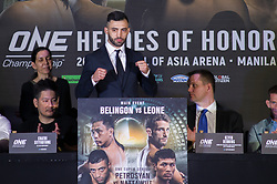 April 17, 2018 - Pasay City, NCR, Philippines - ONE Heroes of Honor kick-off conference. Center - Giorgio Petrosyan (Credit Image: © Noel Tonido/Pacific Press via ZUMA Wire)
