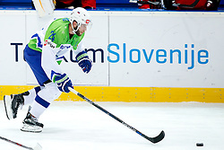 Rok Ticar of Slovenia during ice hockey match between National Teams of Austria and Slovenia in 5th Round of 2016 IIHF Ice Hockey World Championship Division 1 - Group A, on April 29, 2016 in Spodek Arena, Katowice, Poland. Photo by Marek Piuyzs / Sportida