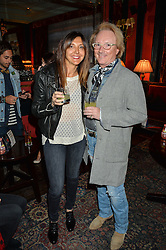 JOHN ERMATINGER Chief Executive Officer at True Religion Apparel and ROSELLA GIULIANI at the True Religion House Party held at 48 Greek Street, Soho, London on 2nd June 2016.