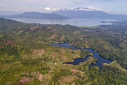 Luftaufnahme von Cerro Azul Meambar National Park, Yojoasee, Honduras / Aerial View of Cerro Azul Meambar National Park with Lake Yojoa, Honduras