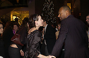 """EMILY MORTIMER AND COLIN SALMON,  The after show party following the UK Premiere of """"Match Point,"""" at Asprey, New Bond st. London.   December 18 2005 ,  ONE TIME USE ONLY - DO NOT ARCHIVE  © Copyright Photograph by Dafydd Jones 66 Stockwell Park Rd. London SW9 0DA Tel 020 7733 0108 www.dafjones.com"""