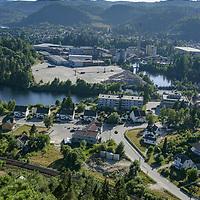 Vennesla i Vest-Agder 2006. Hunsfos fabrikker  fremdeles i drift.