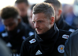Leicester City's Jamie Vardy pays respect to club chairman Vichai Srivaddhanaprabha, who was among those to have tragically lost their lives on Saturday evening when a helicopter carrying him and four other people crashed outside King Power Stadium.