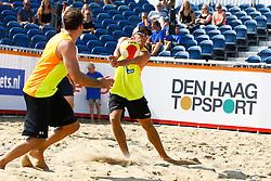 20150830 NED: NK Beachvolleybal 2015, Scheveningen<br />Daan Spijkers, Tim Oude Elferink