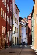 People walking down street, Regensberg Germany