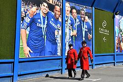 Chelsea Pensioners arrive for the Premier League match at Stamford Bridge, London.