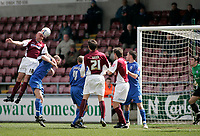 Photo: Marc Atkins.<br /> <br /> Northampton Town v Rochdale. Coca Cola League 2. 08/04/2006. Gavin Johnson of Northampton heads wide.