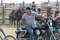 Will Ramsey in the  the Cycle Source motorcycle rodeo games during the 78th annual Sturgis Motorcycle Rally. Sturgis, SD. USA. Wednesday August 8, 2018. Photography ©2018 Michael Lichter.
