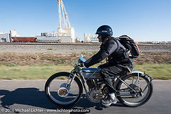 Harley-Davidson Museum Archive Restorer/Conservator Bill Rodencal of Wisconsin on his 1915 Harley-Davidson during the Motorcycle Cannonball Race of the Century. Stage-9 Dodge City, KS to Pueblo, CO. USA. Monday September 19, 2016. Photography ©2016 Michael Lichter.