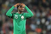 Fotball<br /> VM 2010<br /> 12.06.2010<br /> Argentina v Nigeria<br /> Foto: Witters/Digitalsport<br /> NORWAY ONLY<br /> <br /> Lukman Haruna (Nigeria)<br /> Fussball WM 2010 in Suedafrika, Vorrunde, Argentinien - Nigeria