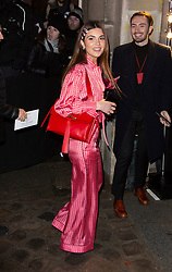 Negin Mirsalehi arriving at Valentino fashion show during Paris Fashion Week Haute Couture Spring Summer 2020 on January 23, 2019 in Paris, France.