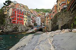 Village of Riomaggiore in Cinque Terra National Park, Italy, a UNESCO World Heritage Site.