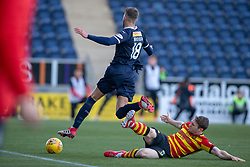 Falkirk's Patrick Brough and Partick Thistle's Niall Keown. Falkirk 1 v 1 Partick Thistle, Scottish Championship game played 17/11/2018 at The Falkirk Stadium.