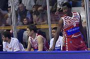 DESCRIZIONE : Reggio Emilia Campionato Lega A 2015-16 Grissin Bon Reggio Emilia Consultinvest Pesaro<br /> GIOCATORE : Semay Christon<br /> CATEGORIA : Espressione Cambio Panchina<br /> SQUADRA : Consultinvest Pesaro<br /> EVENTO : Campionato Lega A 2014-15<br /> GARA : Grissin Bon Reggio Emilia Consultinvest Pesaro<br /> DATA : 01/11/2015<br /> SPORT : Pallacanestro <br /> AUTORE : Agenzia Ciamillo-Castoria/A.Giberti<br /> Galleria : Campionato Lega A 2015-16  <br /> Fotonotizia : Reggio Emilia Campionato Lega A 2015-16 Grissin Bon Reggio Emilia Consultinvest Pesaro<br /> Predefinita :