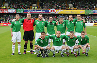 Photo: Andrew Unwin.<br />Northern Ireland v Iceland. European Championships 2008 Qualifying. 02/09/2006.<br />The Northern Ireland team.