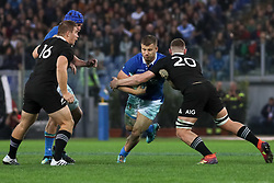 November 24, 2018 - Rome, Rome, Italy - Nathan Harris, Dalton Papalii and Tommaso Castello during the Test Match 2018 between Italy and New Zealand at Stadio Olimpico on November 24, 2018 in Rome, Italy. (Credit Image: © Emmanuele Ciancaglini/NurPhoto via ZUMA Press)