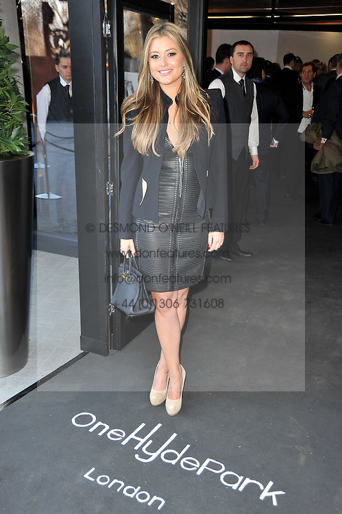 HOLLY VALANCE at the launch of One Hyde Park, The Residences at Mandarin Oriental, Knightsbridge, London on 19th January 2011.