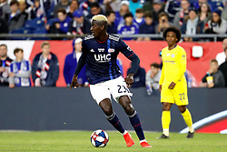 May 15, 2019 - Foxborough, MA, U.S. - FOXBOROUGH, MA - MAY 15: New England Revolution midfielder Wilfried Zahibo (23) turns up field during the Final Whistle on Hate match between the New England Revolution and Chelsea Football Club on May 15, 2019, at Gillette Stadium in Foxborough, Massachusetts. (Photo by Fred Kfoury III/Icon Sportswire) (Credit Image: © Fred Kfoury Iii/Icon SMI via ZUMA Press)