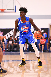 June 3, 2018 - Norwalk, CA, U.S. - NORWALK, CA - JUNE 03: Kahlil Whitney from Roselle Catholic High School dribbles the ball during the Pangos All-American Camp on June 3, 2018 at Cerritos College in Norwalk, CA. (Photo by Brian Rothmuller/Icon Sportswire) (Credit Image: © Brian Rothmuller/Icon SMI via ZUMA Press)