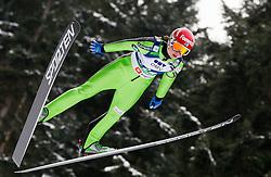 Julia Kykkaenen of Finland during Normal Hill Individual Competition at FIS World Cup Ski jumping Ladies Ljubno 2012, on February 11, 2012 in Ljubno ob Savinji, Slovenia. (Photo By Vid Ponikvar / Sportida.com)