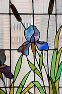 Stained glass window at the Art Nouveau Museum in Riga, Latvia © Rudolf Abraham