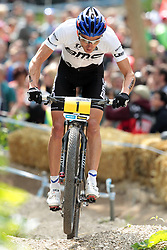 01.06.2014, Bullentaele, Albstadt, GER, UCI Mountain Bike World Cup, Cross Country Herren, im Bild Julien Absalon Frankreich // during Mens Cross Country Race of UCI Mountainbike Worldcup at the Bullentaele in Albstadt, Germany on 2014/06/01. EXPA Pictures © 2014, PhotoCredit: EXPA/ Eibner-Pressefoto/ Langer<br /> <br /> *****ATTENTION - OUT of GER*****
