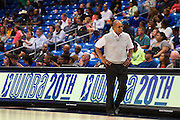 Dallas Wings head coach Fred Williams looks on against the Connecticut Sun during a WNBA preseason game in Arlington, Texas on May 8, 2016.  (Cooper Neill for The New York Times)