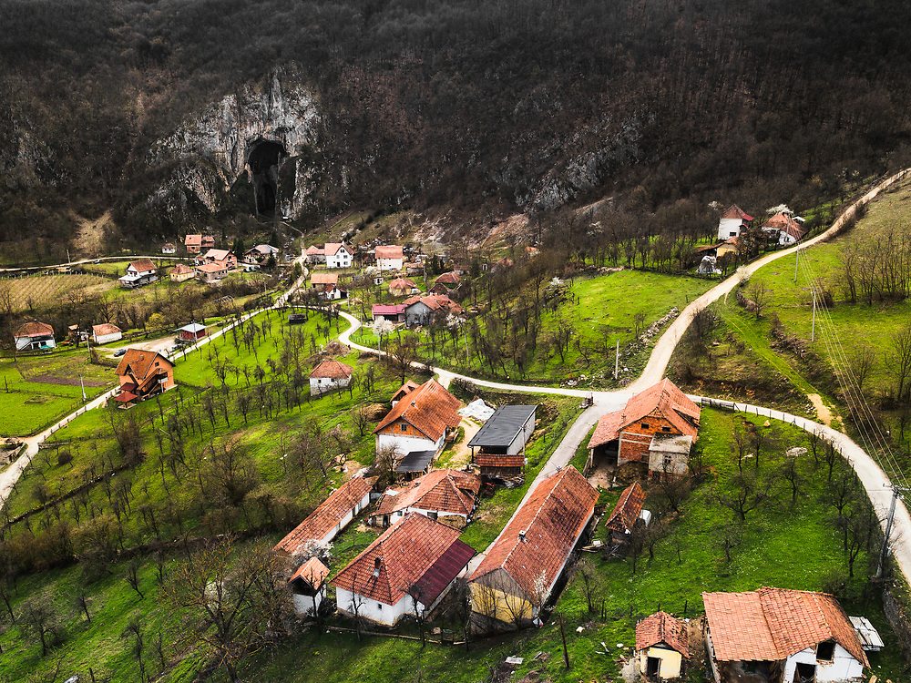 Potpecka Pecina Cave in Serbia. It is the largest cave at the Balkans.