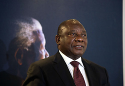 JOHANNESBURG, SOUTH AFRICA - DECEMBER 05: Deputy President of South Africa Cyril Ramaphosa gives a speech during a ceremony, commemorating the 3rd death anniversary of South African leader Nelson Mandela at Nelson Mandela Foundation in Johannesburg, South Africa on December 05, 2016. Ihsaan Haffejee / Anadolu Agency  | BRAA20161205_503 Johannesburg Afrique du Sud South Africa