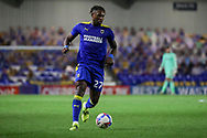 AFC Wimbledon defender Darnell Johnson (27) dribbling during the EFL Sky Bet League 1 match between AFC Wimbledon and Gillingham at Plough Lane, London, United Kingdom on 23 February 2021.
