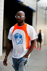 Street style, Virgil Abloh arriving at Alyx Spring-Summer 2019 menswear show held at Bercy Popb, in Paris, France, on June 24th, 2018. Photo by Marie-Paola Bertrand-Hillion/ABACAPRESS.COM
