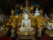 03 APRIL 2015 - CHIANG MAI, CHIANG MAI, THAILAND:  Statues of the Buddha in Wat Ou Sai Kham in Chiang Mai.     PHOTO BY JACK KURTZ