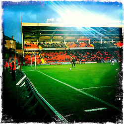 Tannadice Park, usually referred to as Tannadice, is a football stadium located on Tannadice Street in the Scottish city of Dundee. The stadium is home of Dundee United F.C..Hipstamatic images taken on an Apple iPhone..©Michael Schofield.