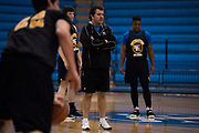 Southeastern Oklahoma State mens basketball coach Kelly Green looks on during basketball practice in Durant, Oklahoma on January 27, 2017.  (Cooper Neill for The New York Times)