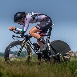 EMMEN (NED) June 16: <br />CYCLING <br />Dutch Nationals Time Trail Women Elite Leonie Bos
