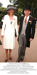 LORD & LADY LLOYD-WEBBER at Royal Ascot on 19th June 2003.PKR 91