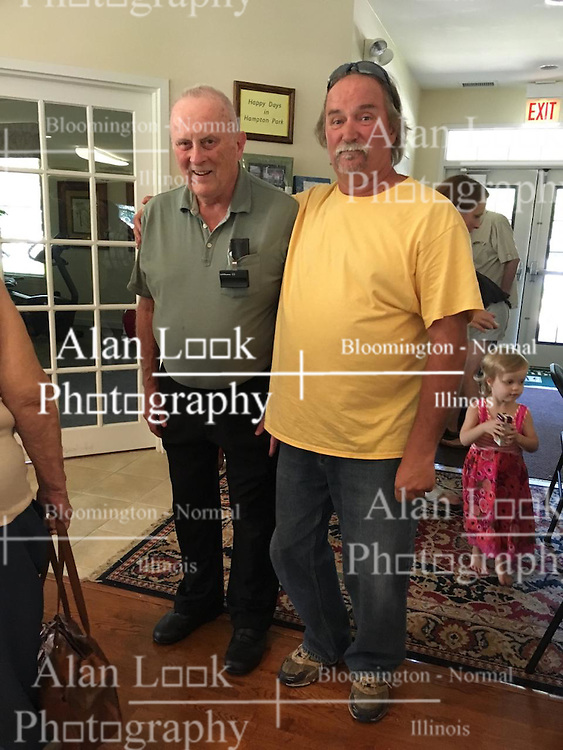06 August 2016:   David Look turns 80 years old.  Family joins in the celebration at the clubhouse on Bond Circle in Naperville Illinois<br /> <br /> Taken by Lelanny.<br /> <br /> Dave & Roger
