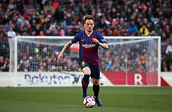 March 30, 2019 - Barcelona, Catalonia, Spain - Ivan Rakitic during the match between FC Barcelona and RCD Espanyol, corresponding to the week 29 of the Liga Santander, played at the Camp Nou Stadium, on 30th March 2019, in Barcelona, Spain. (Credit Image: © Joan Valls/NurPhoto via ZUMA Press)
