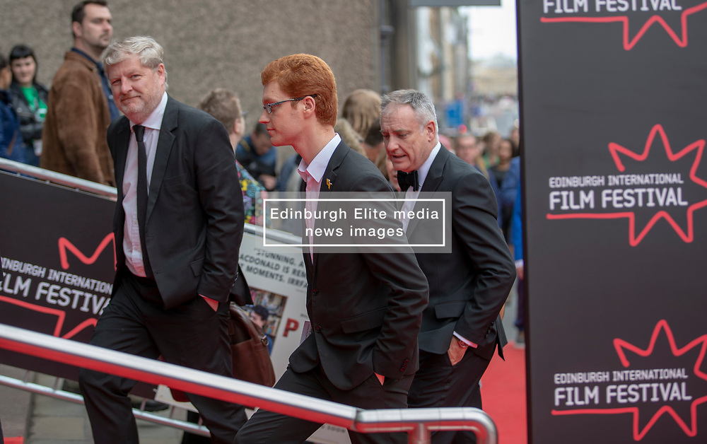 The Edinburgh International Film Festival Opening Night Premiere features the film Puzzle. Directed by Mark Turtletaub it stars Kelly Macdonald and Irrfan Khan. <br /> <br /> Pictured: Politicians Angus Robertson, Ross Greer and Richard Lochead