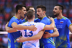 Team of Slovenia during the European Championship game Poland - Slovenia on August 30, 2017 in Krakow, Poland. (Photo by Krzysztof Porebski / Press Focus)